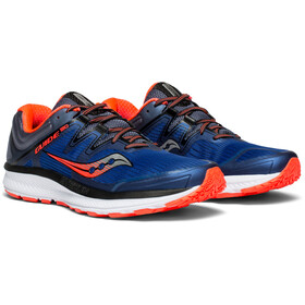 saucony Guide ISO Shoes Men Blue/Grey/ViziRed